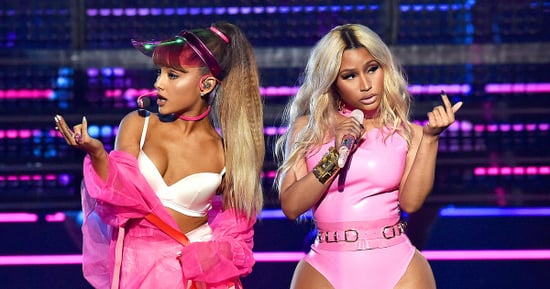 Ariana Grande, Nicki Minaj Sweat It Out With Unitard-Clad Men in Performance at 2016 MTV VMAs