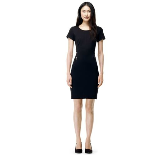 We'll think of this as our foolproof, wear-anywhere, go-with-anything sheath — you should too. Here's why: the fit of this Club Monaco Jamee dress ($170) is universally flattering and its basic black color means it's easy to style with the pieces already in your closet.