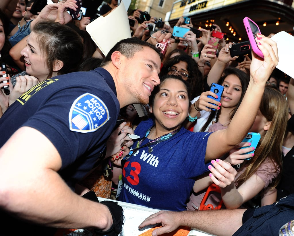 Channing Tatum chatted with fans and snapped pictures at the 21 Jump Street SXSW premiere in March.