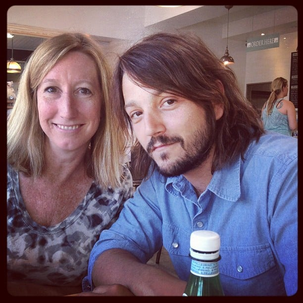 Diego Luna snapped a photo with Sundance Film Festival's Keri Putnam. Source: Instagram user sundanceinstitute