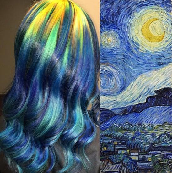 Rainbow Hair Inspired by Famous Art