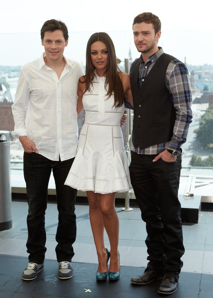 Justin Timberlake, Mila Kunis, and Will Gluck in Russia.