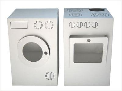 Cardboard Oven and Washing Machine