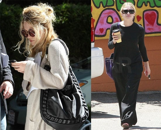 Photos of Mary-Kate and Ashley Olsen on a Coffee Run in LA