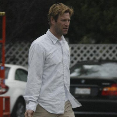 Aaron Eckhart Out in LA