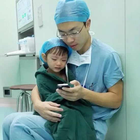 Heart Surgeon Calms Girl With Cartoons Before Operation