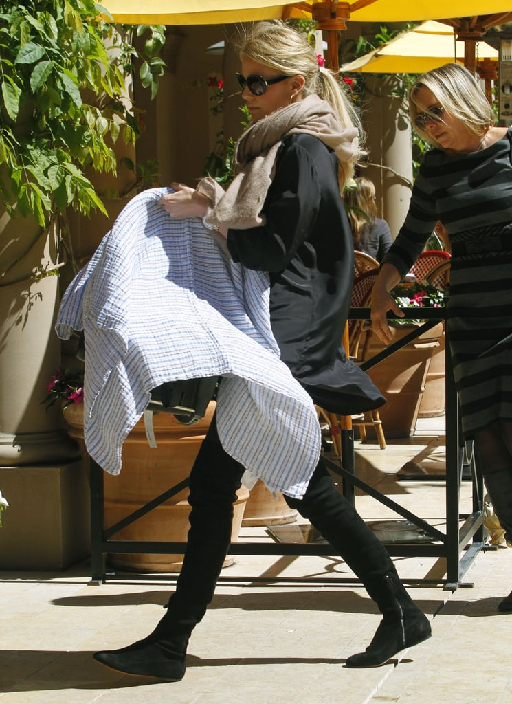 Charlize Theron headed to lunch in LA.