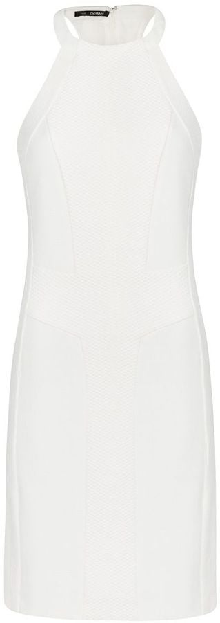Mango Fitted White Dress