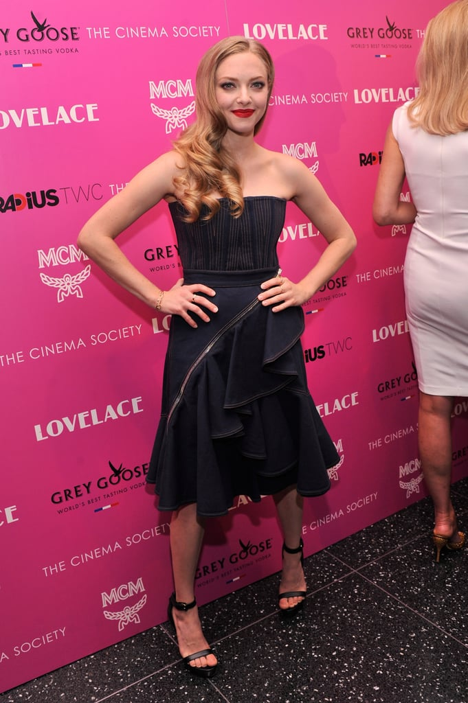 Amanda Seyfried wore Givenchy to her Lovelace screening in NYC.