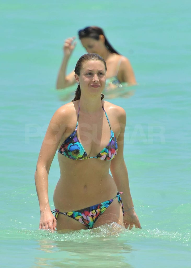 Whitney Port took a dip in the ocean.
