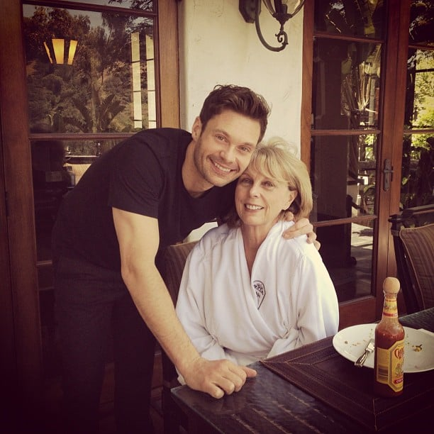 Ryan Seacrest had brunch with his mom, Connie, on Mother's Day.  Source: Instagram user ryanseacrest
