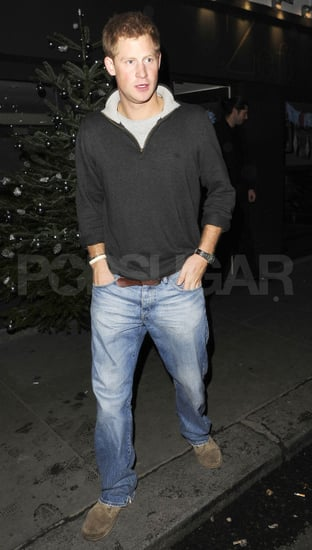 Prince Harry went casual in jeans.