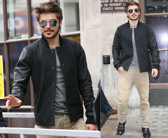 Pictures of Zac Efron with a Beard Promoting Charlie St Cloud at Radio One