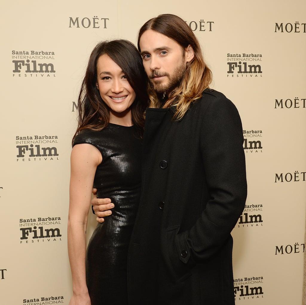 Jared posed with actress Maggie Q at the Santa Barbara Film Festival.