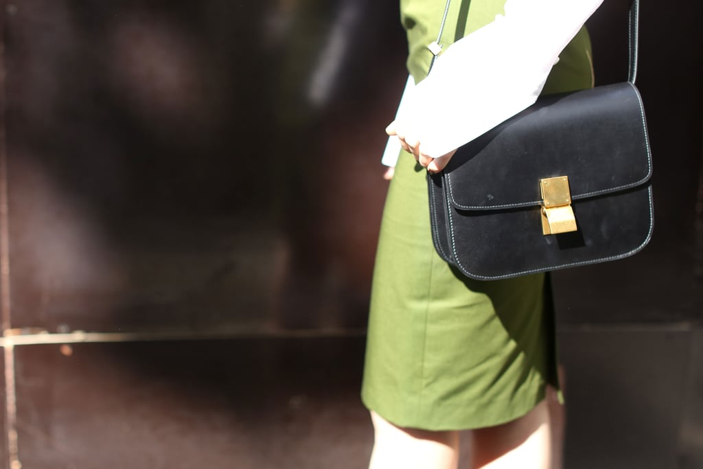 A structured black handbag was a totally sophisticated albeit understated add-on.