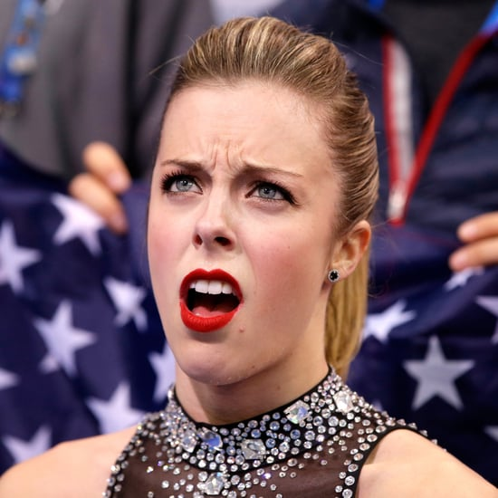 Ashley Wagner's Reaction to Olympic Skating Score | GIFs