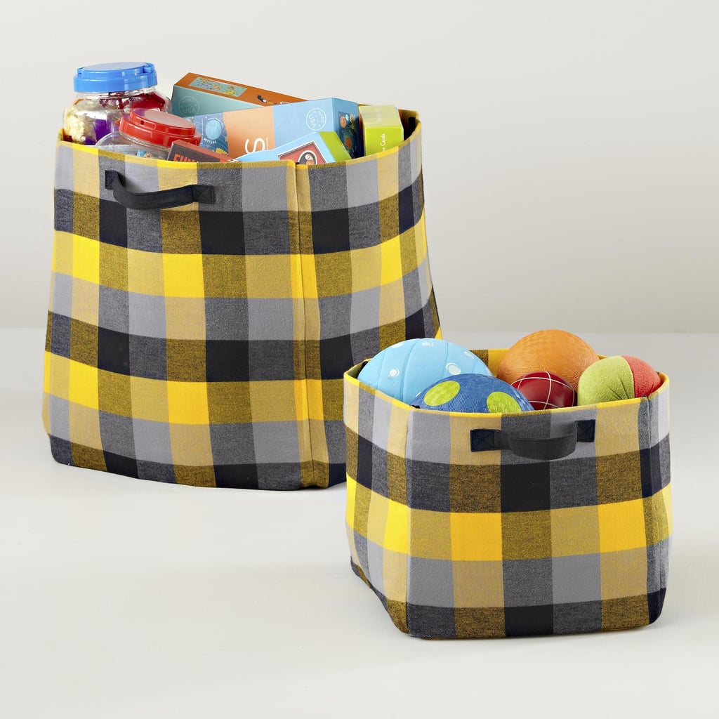 Land of Nod Buffalo Check Storage ($25-$49)
