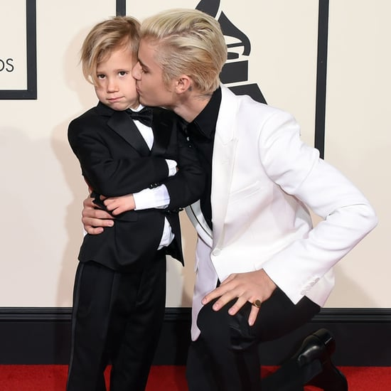 Justin Bieber and His Little Brother at the Grammys 2016