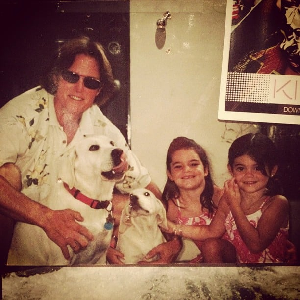 Kendall and Kylie Jenner pulled a photo from their family archive with dad Bruce.  Source: Instagram User kendallnjenner