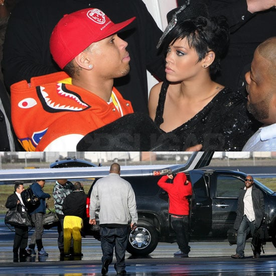 Chris and Rihanna the Night Before