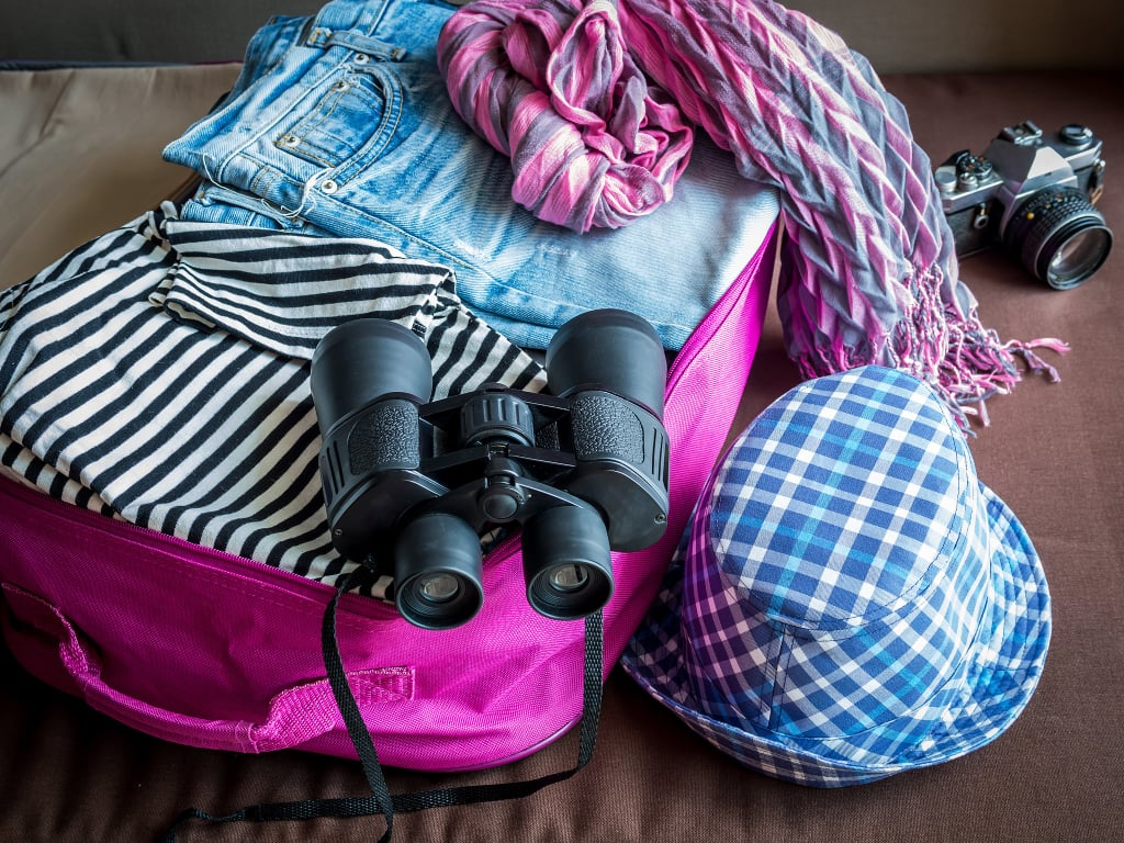Remove a quarter of what you've packed.