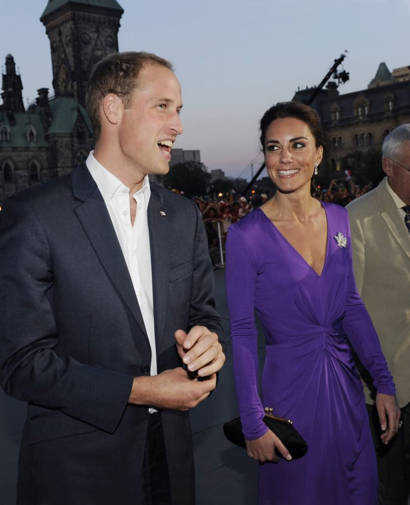 Kate Middleton wore a purple Issa dress as she and Prince William attended the Evening National Canada Day on July 1.
