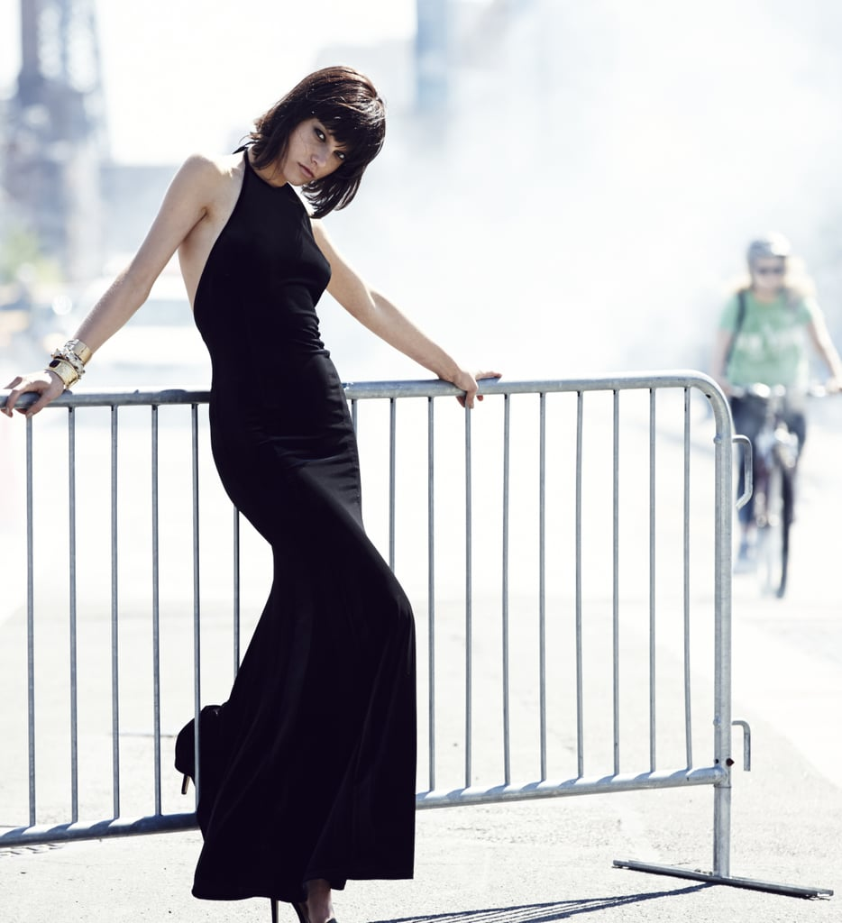 This slinky black dress looks perfect for holiday parties. Photo courtesy of River Island