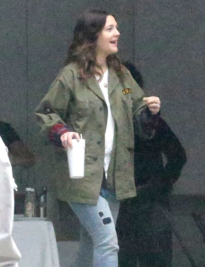 Drew Barrymore Can't Hide Her Bright Smile on a Foggy Day