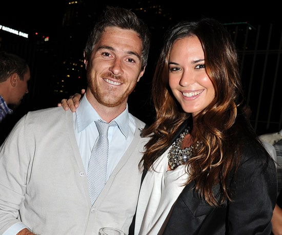 Slide Picture of Dave Annable and Odette Yustman at Brothers and Sisters Party in LA