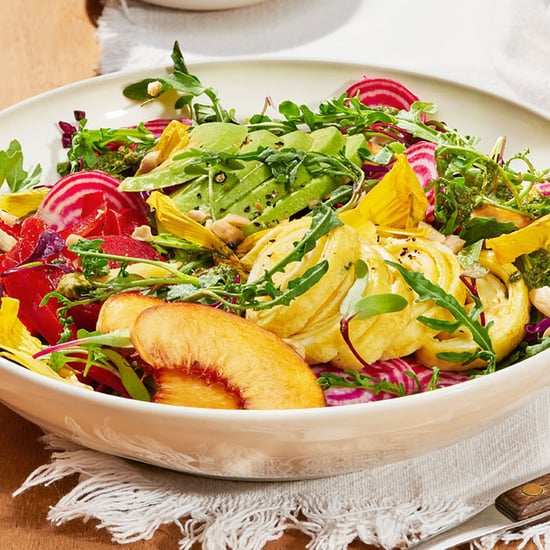 Farmers Market Salad With Ribboned Goat Cheese Omelet