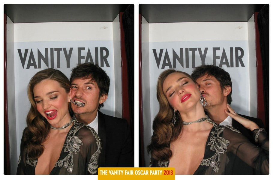 Miranda Kerr posed in Vanity Fair's Oscars party photo booth.