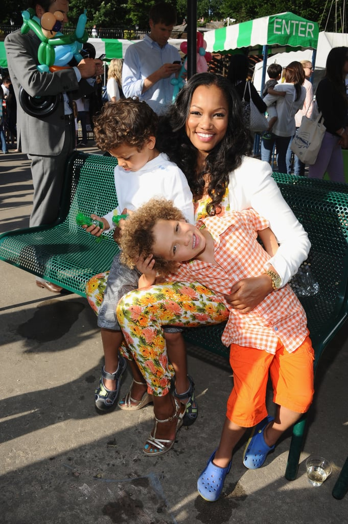 Garcelle Beauvais goofed around with her kids at the 2013 Baby Buggy Bedtime Bash.