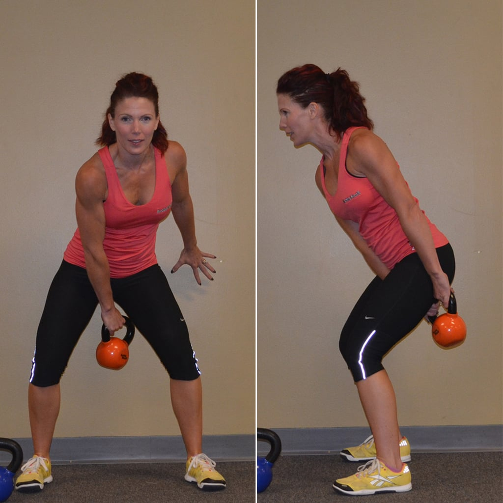 Exercise Kettlebell Figure Eight