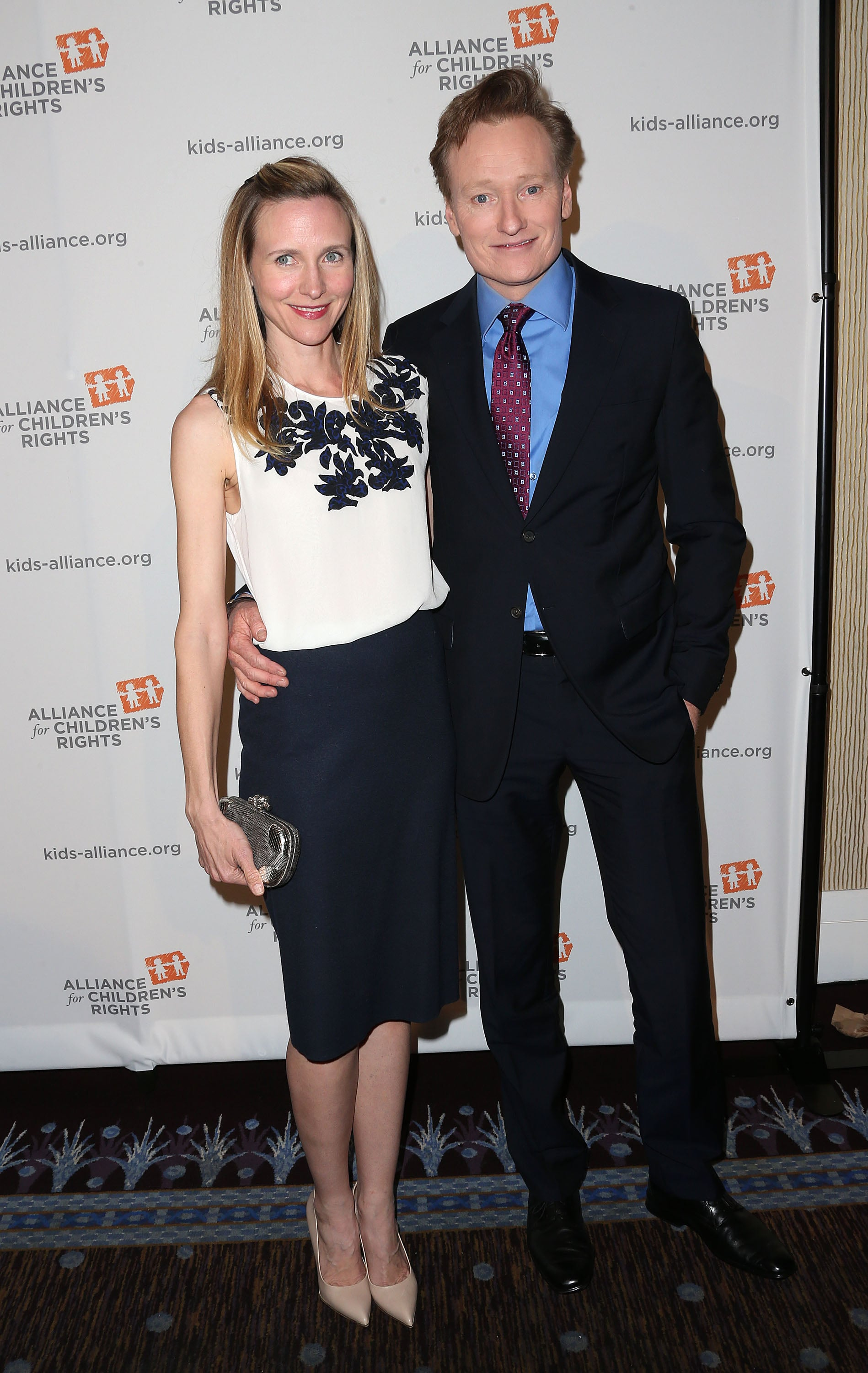 Conan O'Brien attended the dinner with wife Liza Powel.