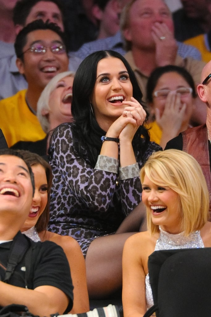 Katy Perry went to the Dallas Mavericks and the Los Angeles Lakers game.