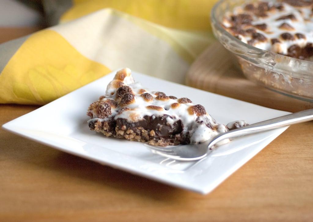 Dark Chocolate Marshmallow Pie