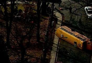 Headline: School Bus Overturned in Maryland