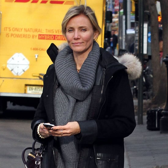 Cameron Diaz Dressed in a Gray Sweater in NYC | Pictures