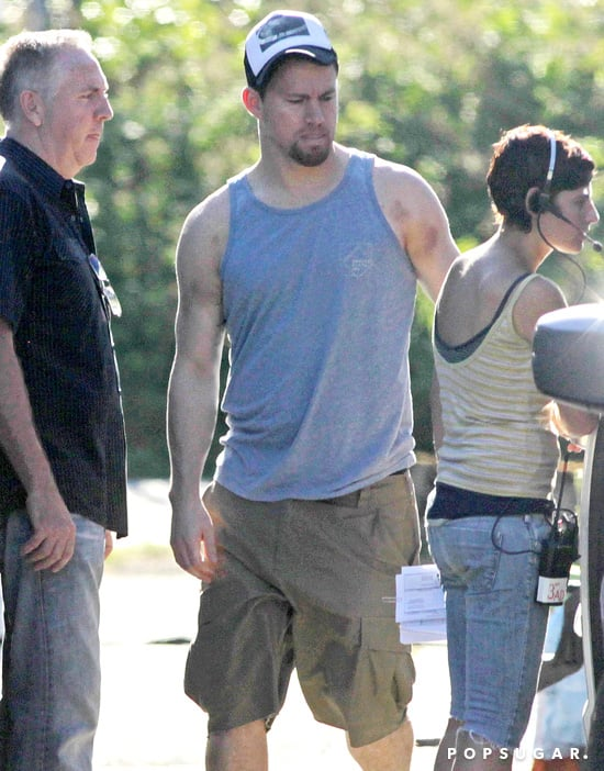 Channing Tatum showed off his muscles in Vancouver.