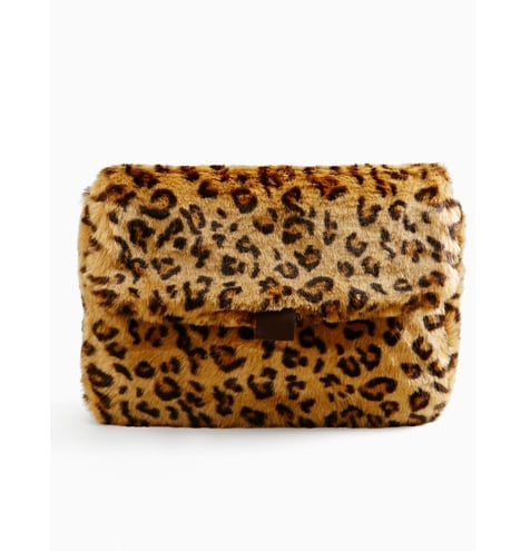 Nasty Gal Instinctual Faux Fur Clutch ($58)