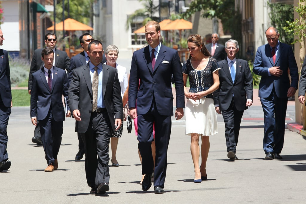 Prince William and Kate Middleton arrive at ServiceNation event in LA.