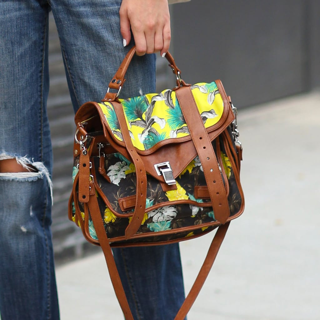 A tropical-feeling Proenza Schouler made distressed denim so much more fun. Source: Greg Kessler