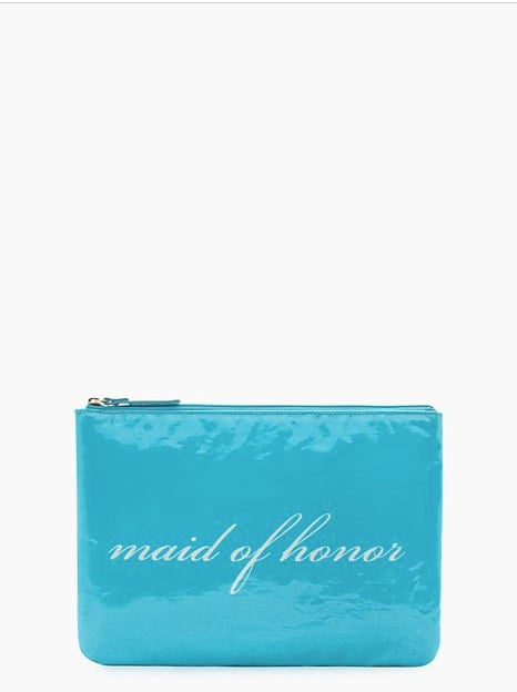Kate Spade New York Wedding Belles Gia Blue Maid of Honor Zipper Clutch ($25, originally $78)
