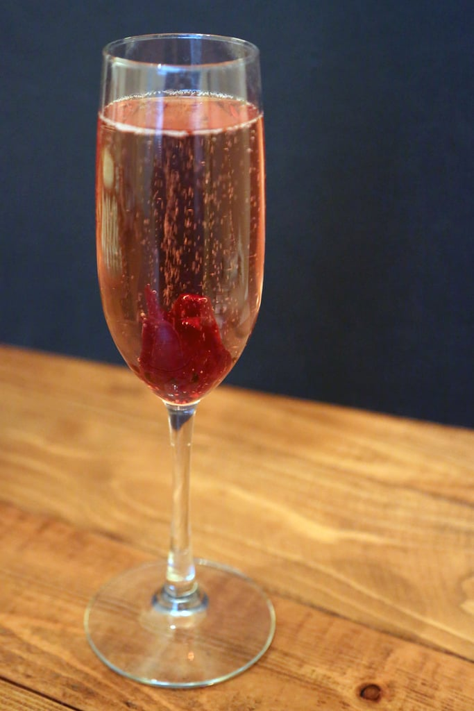 Hibiscus Sparkling Wine Cocktail