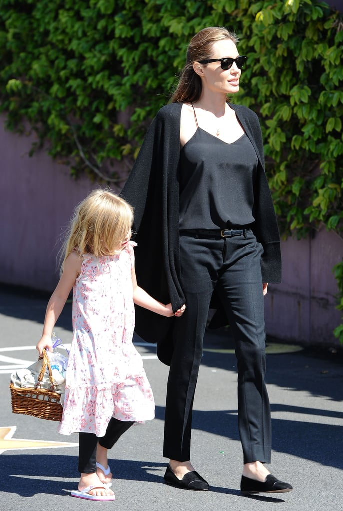 Angelina Jolie and the Kids Prep For Halloween