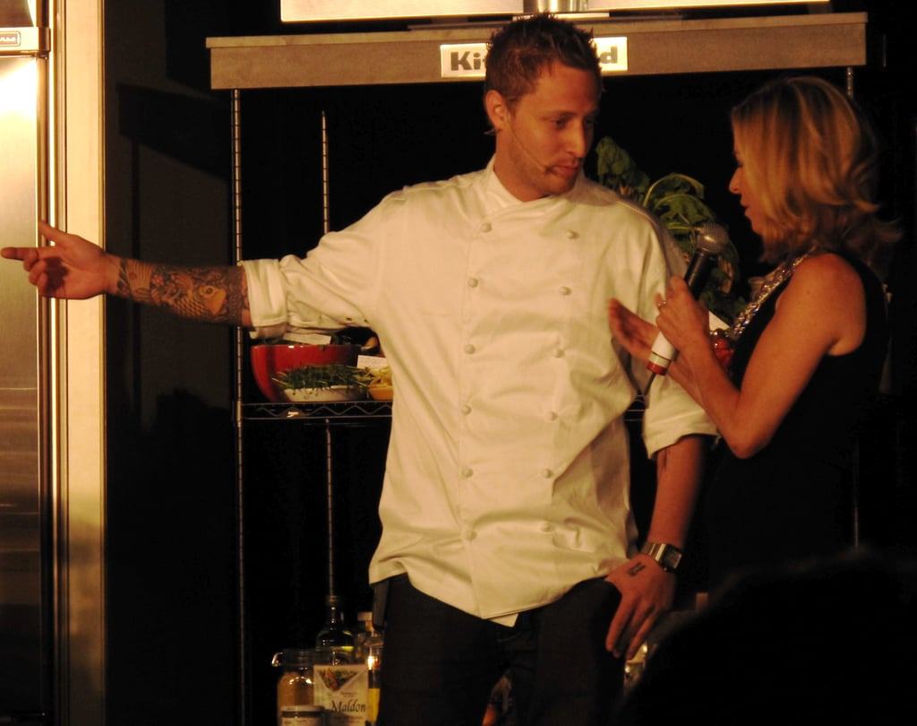 Michael Voltaggio was so fun to watch in action. I couldn't help but wish his brother Bryan, who was sitting in the front row, was up there cooking, too!