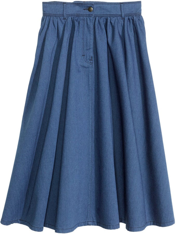 H&M Full Denim Skirt