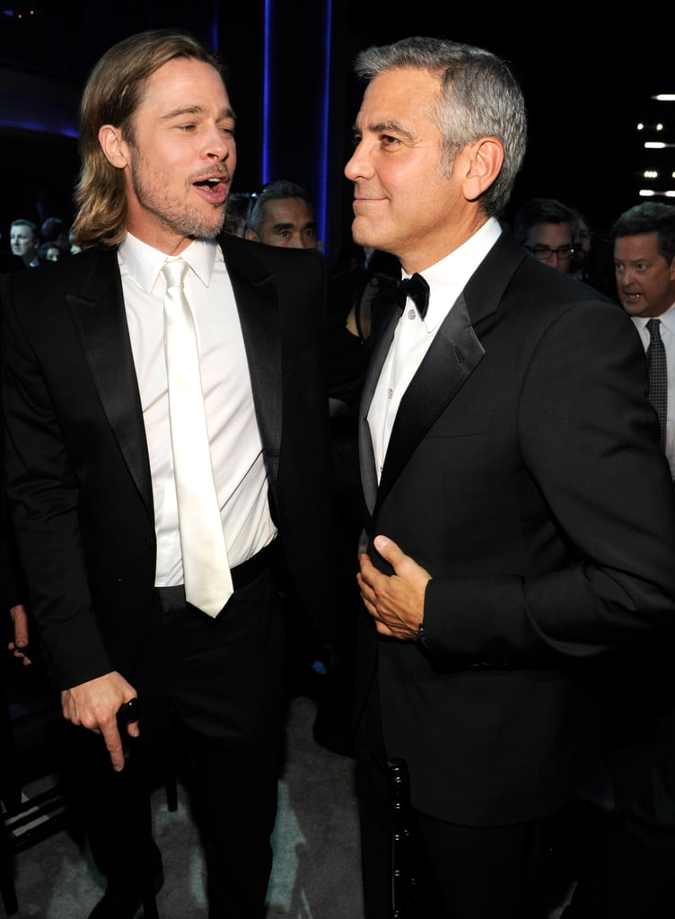 Brad Pitt and George Clooney hung out in 2012.