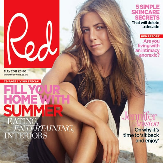 Jennifer Aniston Pictures in Red Magazine