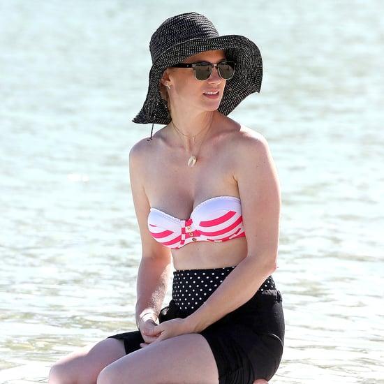 January Jones Wearing a Bikini Top in Hawaii | Pictures